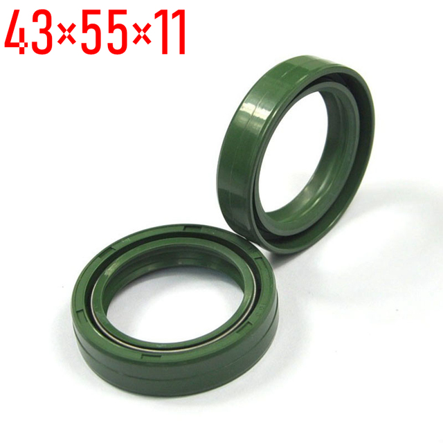 US $3 66 29% OFF|43*55*11 Motorcycle Front Fork Damper Oil Seals Set for  HONDA CR 480R 125R 250R for YAMAHA YZ250 465 490 FZR1000 XTZ1200 WR500Z-in