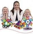 Los niños juguetes de los ladrillos 66 unids magnética magformers diy bloques de construcción de ladrillos de construcción de juguetes 3d juguetes para regalos de chilldren