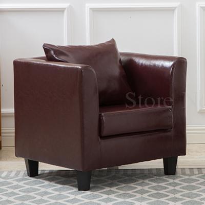 Тканевая одноместная Софа стул Европейская маленькая квартира отель кафе интернет кафе карточка сиденья PU диван - Цвет: VIP 3