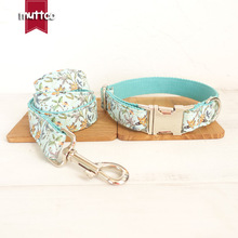 Fresh Flower Graceful Fashion Dog Collar And Leash Set With Metal Buckle Dog &cat Necklace And Dog Leash For Pet Christmas Gift