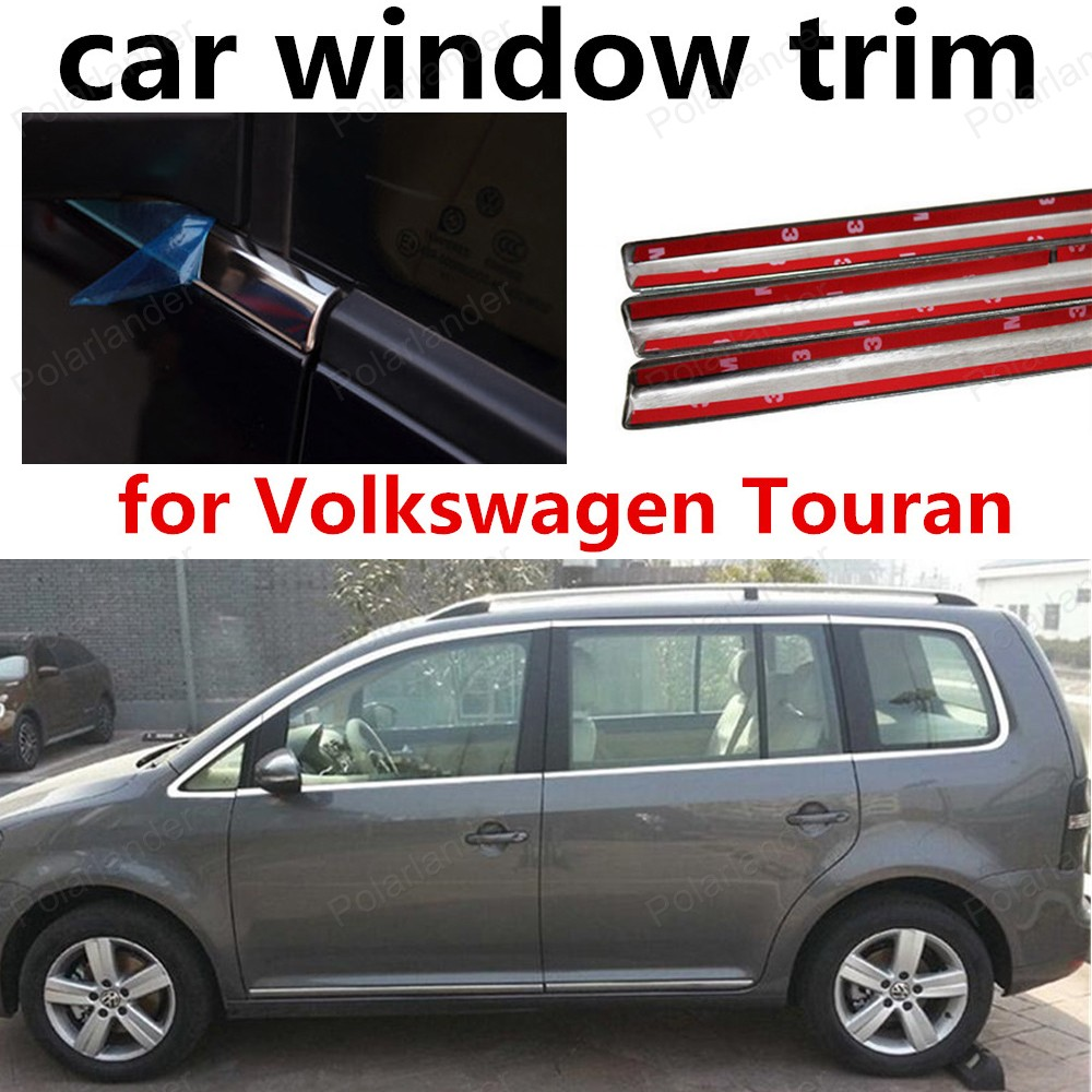 hot!! Stainless Steel car decorative window trim styling accessary for Volkswagen Touran 2008-2015 without columnhot!! Stainless Steel car decorative window trim styling accessary for Volkswagen Touran 2008-2015 without column