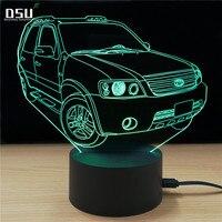 3D Lamp SUV Car Kids Toys Child Christmas Gifts 7 Colors Change Lights Lighting LED Bulb