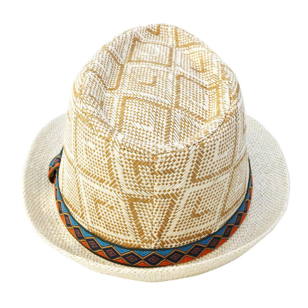 LNPBD Hot 2018 Mùa Hè Phụ Nữ Đàn Ông Straw Hat Mặt Trời Thanh Lịch Nữ Hoàng Homburg Quý Ông Mũ Mũ Bãi Biển Panama Hat