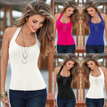 Sleeveless O-neck Slim Women Summer Tops 2016 New Europe And America Style Casual Fashion Simple All-match Slim T-shirts S22656