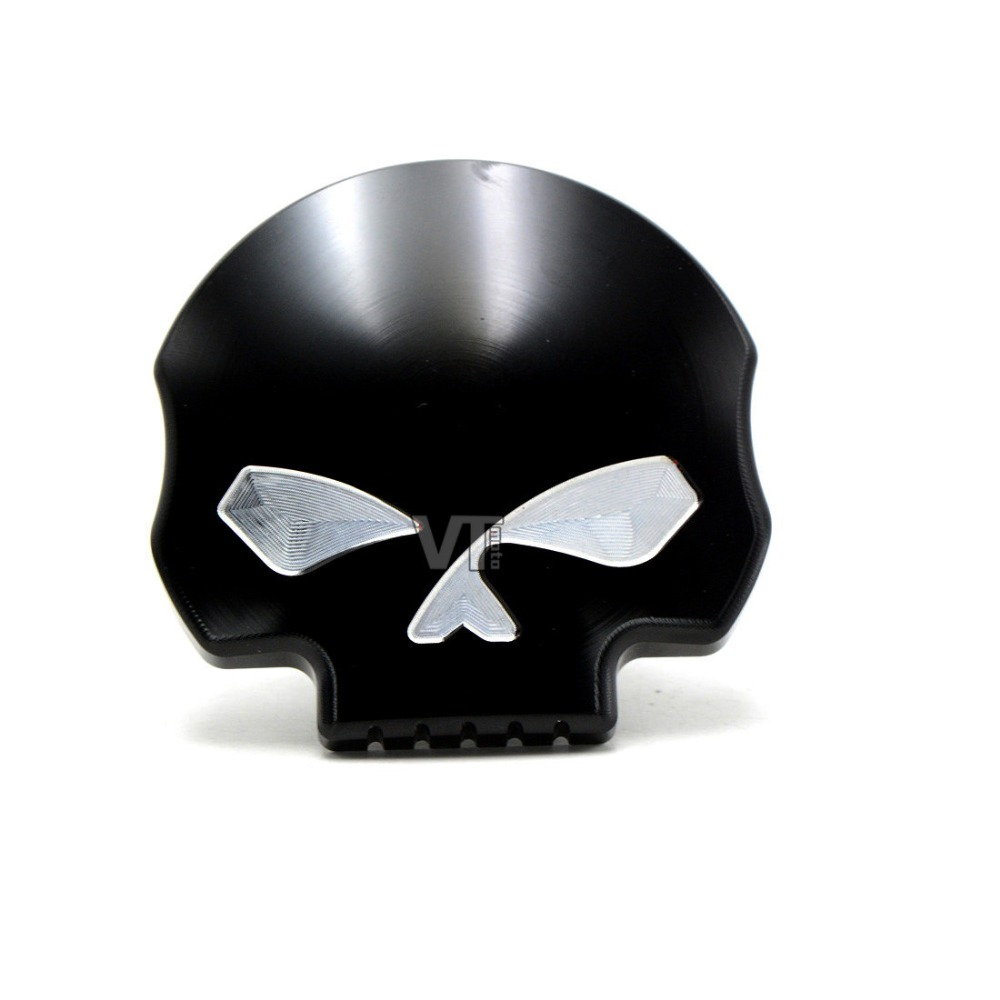Chrome 3color Eyes Skull Gas Fuel Tank Cap For Harley Touring FXD FLHR FLHT FXST Sportster XL 1200 883