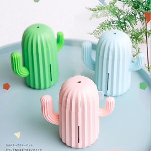 Image 3 - 340ML Cactus Air Humidifier Battery Operated Rechargeable USB Aroma Essential Oil Diffuser With Warm Light Cactus Air Purifier
