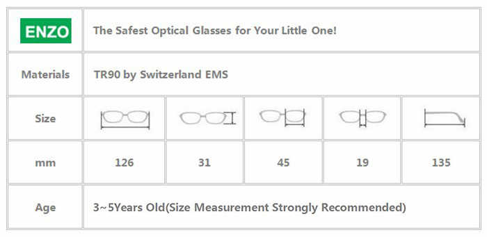 Kids Eyeglasses Frame Size 45mm Flexible Silicone Bendable with Strap Legs Detachable, Light Weight Safe Optical Children Frame