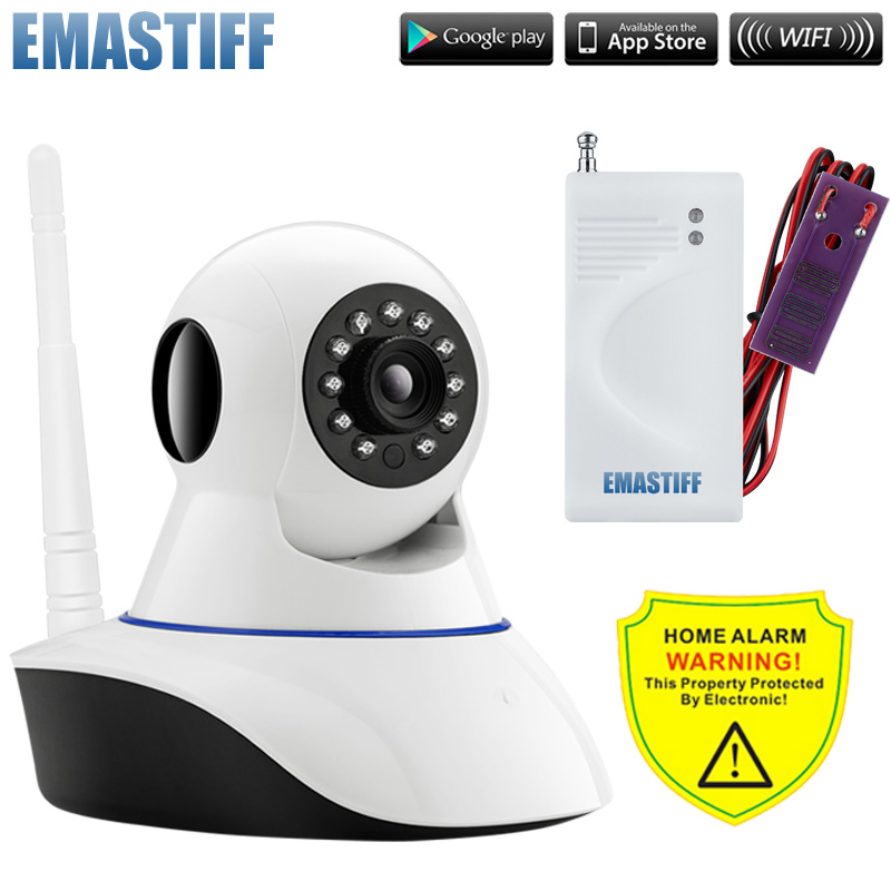 Wifi wireless IP Camera Alarm System Home Security with Water Leakage Sensor App Control With Night Infrared Light wifi infrared sensor cctv camera 1280 720hd night vision app control 1280 720hd home linkage alarm function security home