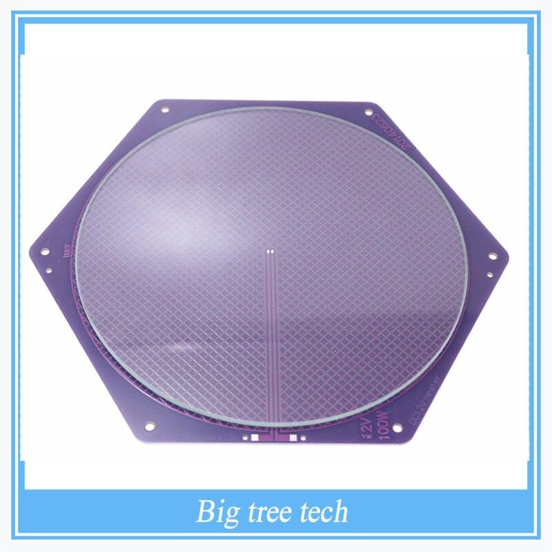 <font><b>Kossel</b></font> Delta Rostock Hotbed PCB 12V 120w 170/200mm Purple Reprap Seemecnc MK2A /2B +200*3mm <font><b>Round</b></font> <font><b>Plate</b></font> <font><b>Borosilicate</b></font> <font><b>Glass</b></font>