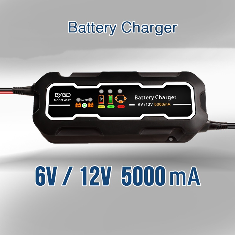 Smart Car Battery Charger 12V/6V 5A Portable Battery Quick Charger For Auto Motorcycle Lead Acid Batteries Battery Maintainer цена 2017