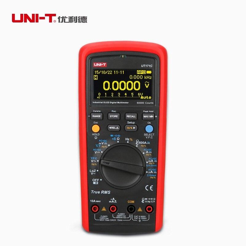 UNI-T UT171C Industrial Vrai RMS Multimètres Numériques L'admission nS Température AC LoZ Carrés Mesure Vague Li-Batterie USB PCI