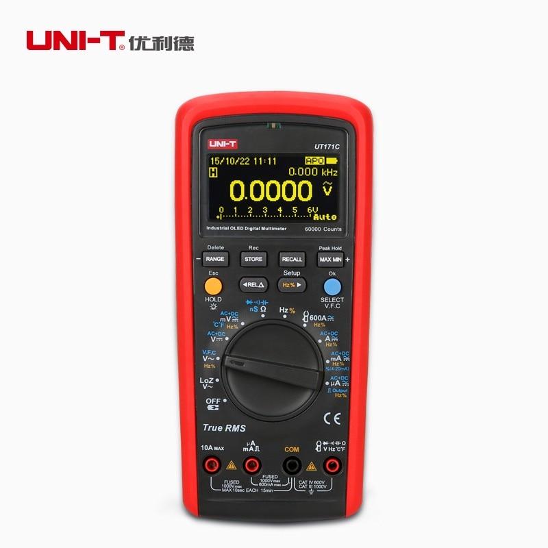 UNI-T ut171c промышленных True RMS цифровой Мультиметры допуска НС Температура AC LOZ мера площади волна Li-Батарея USB НТС