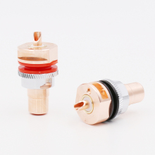где купить Viborg RC101 Pure Copper RCA Socket Solder RCA Female Socket Hifi  по лучшей цене