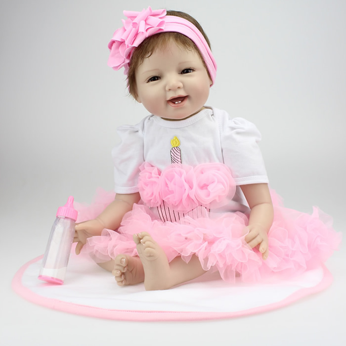 50-55CM SOFT Silicone Reborn Baby Dolls Handmade Cloth Body Reborn Babies Doll Toys Play House Baby Growth Partners Brinquedos partners lp cd