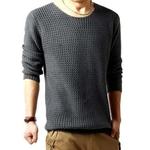Fashion Men's Sweaters Spring Autumn Winter Casual Knitted Pullovers Men Grey Black O-Neck Male Thin Pullover Sweater
