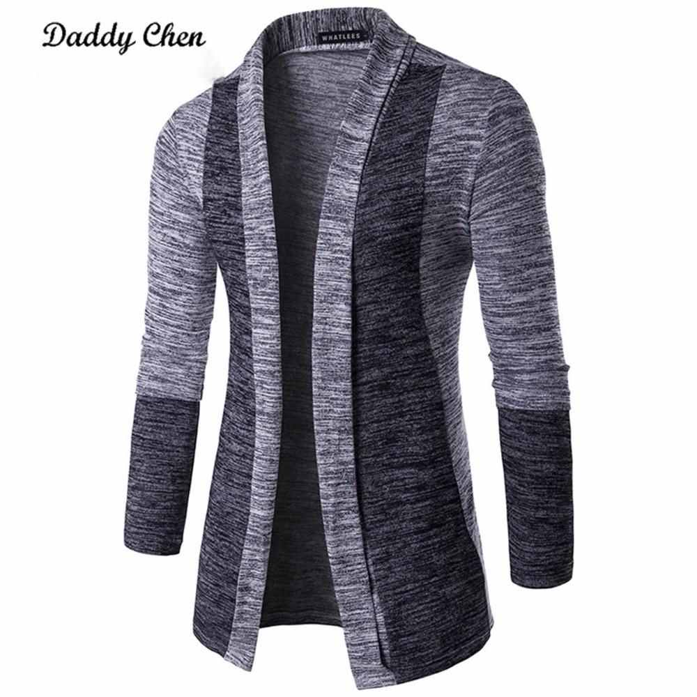 Men Casual Jacket Coat Patchwork Long Sleeve Mens Fashion Men Trench Autumn Cotton Homme Fashion Gray Innrech Market.com