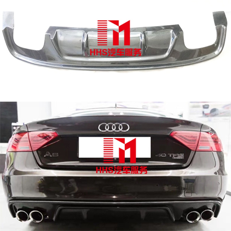 carbon fiber rear bumper lip diffuser for audi a5 sline s5. Black Bedroom Furniture Sets. Home Design Ideas