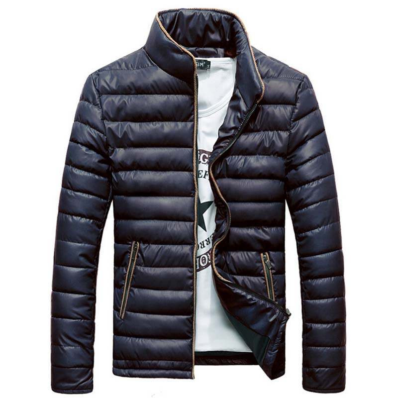 Aliexpress.com : Buy 2015 Men's Winter Jacket Solid Color Stand ...
