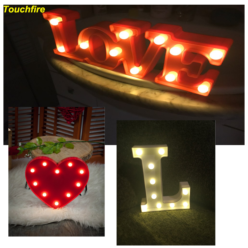 red love led letter sign night light display lamp for birthday marrige wedding party girlfriend. Black Bedroom Furniture Sets. Home Design Ideas