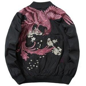 Nowy modna kurtka High Street Phoenix hafty płaszcz nieformalne okrycie wierzchnie Hip Hop drop ship rabat wiosna Bomber ubrania plus rozmiar