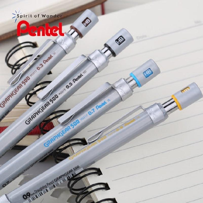 Japanese Pentel metal scrub clip activity pencil PG series automatic pencil 0 3 0 5 0
