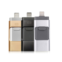 3 em 1 otg móvel usb flash drive criativo novidade pendrive usb para iphone 5 6 7 8 x para micro usb flash para iphone android|Pen drive USB|   -