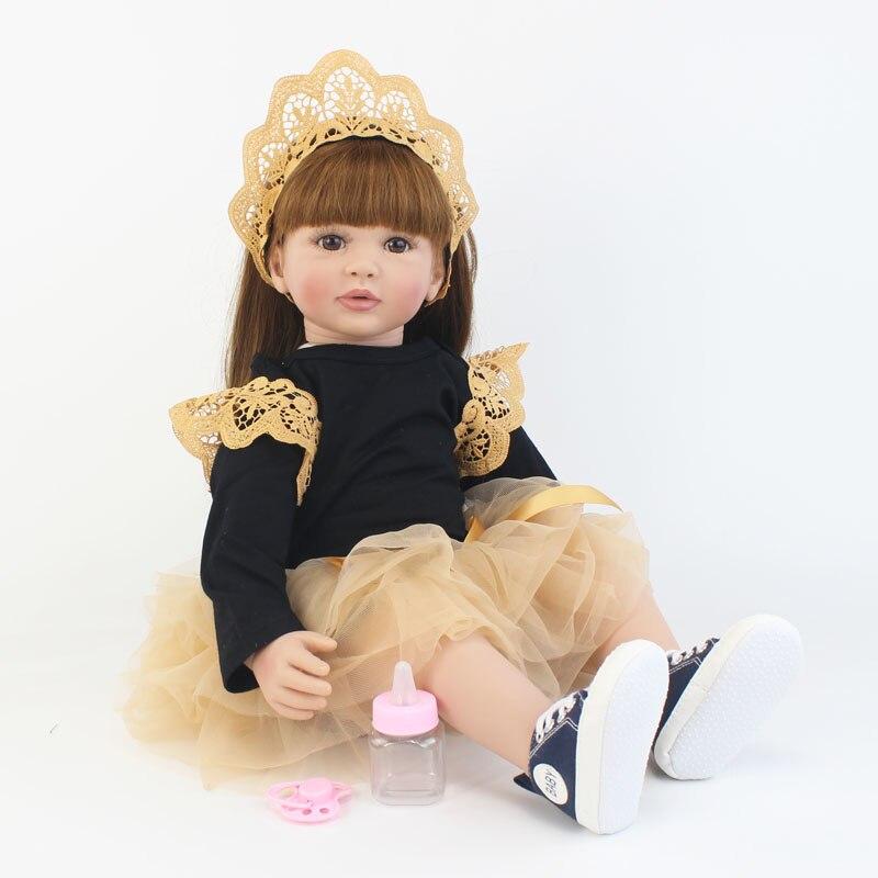 Oyuncaklar ve Hobi Ürünleri'ten Bebekler'de Özel Teklif 60cm Reborn Yürümeye Başlayan Bebek Oyuncak Kız Için Silikon Vinil Bacaklarda Prenses Bebekler Canlı Bebe Çocuk doğum günü hediyesi'da  Grup 1