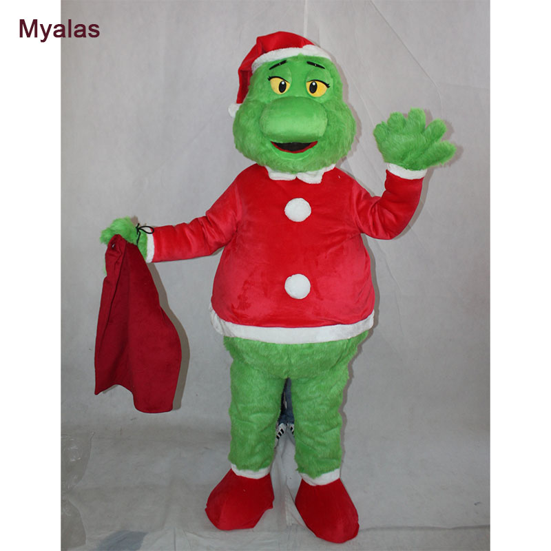Chirstmas Green Monster Costume Mascot Costume And Halloween Costume Customize For 1.6m To 1.8m Mascot Costume Birthdays Gift
