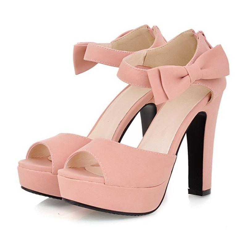 67c0931bb92 Women Sandals New Summer Peep Toe Ankle Strap Thick High Heel ...
