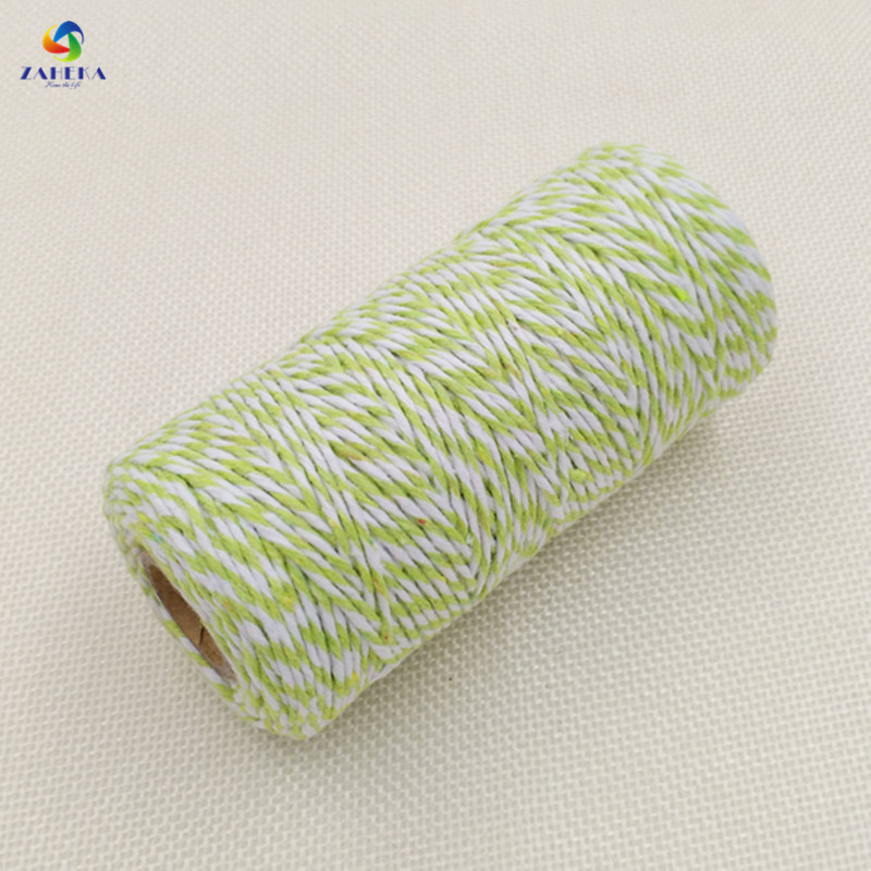 EIEYO 100 Meters Double Color Cotton Baker Twine Rope for DIY - Arts, Crafts and Sewing - Photo 1