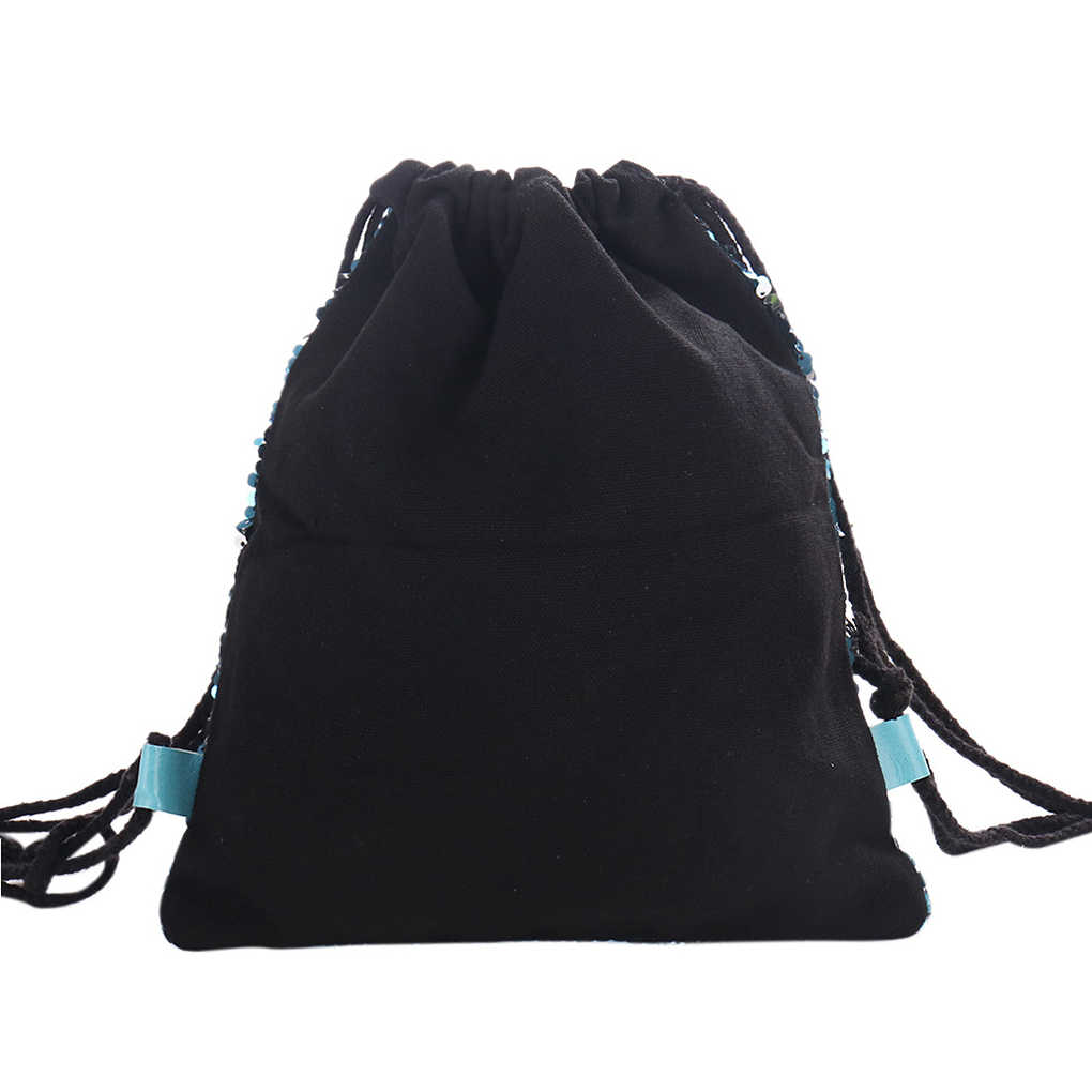 ... Women Sequins String Backpack Reversible Glitter Drawstring Bags Travel  Sports School Backpack ...