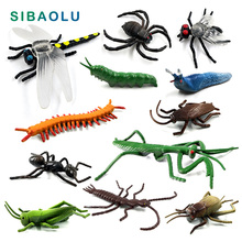 Dragonfly Beetle Spider Ant Mantis fly figurine Insect Animal model home decor miniature fairy garden decoration accessories toy цены