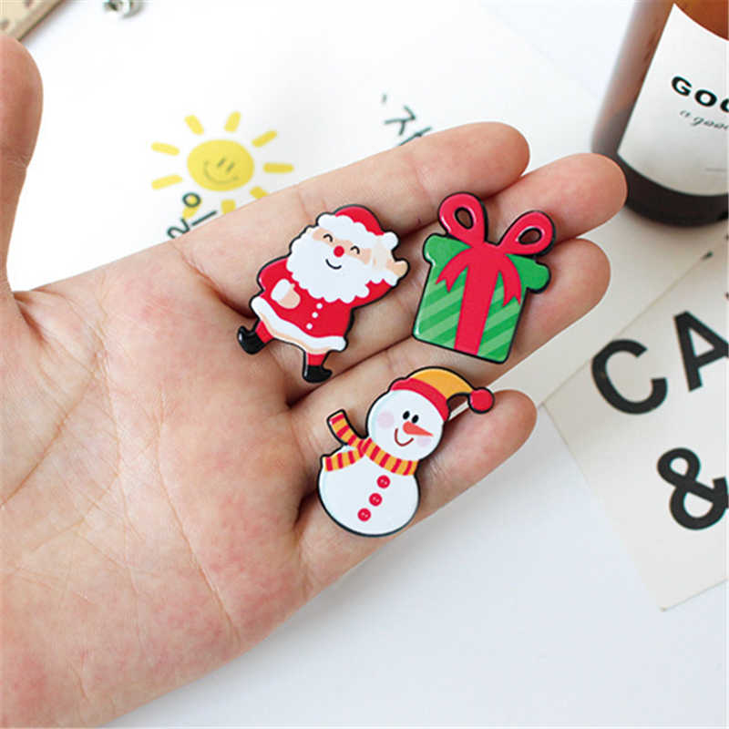 feef771d9e5b9 ... DoreenBeads Christmas Gift Acrylic Badges Pin Brooches Santa Claus  Snowman Elk Pin for Kids T Shirt ...