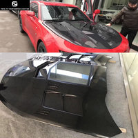 engine hood Carbon fiber Transparent engine cover for Chevrolet Camaro car body kit 16 17