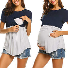 a148318c769 Women Pregnancy Clothes Women Pregnant Maternity Nursing Stripe Breastfeeding  Top T-Shirt Blouse Short Sleeve