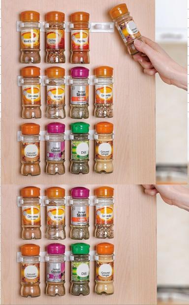 Spice clips Organizer Rack 20 Cabinet Door Spice Clips
