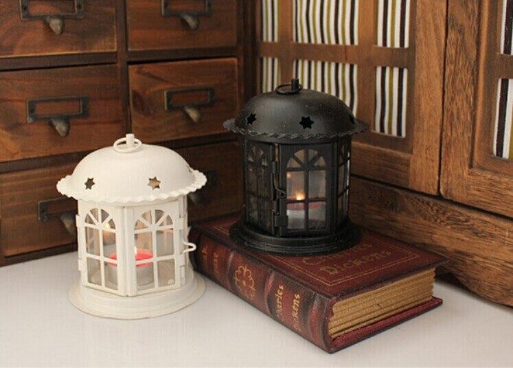1 PC Do Vintage de ferro forjado suporte de vela Dos Namorados casamento castiçal de vidro dia.12cm OK 0017