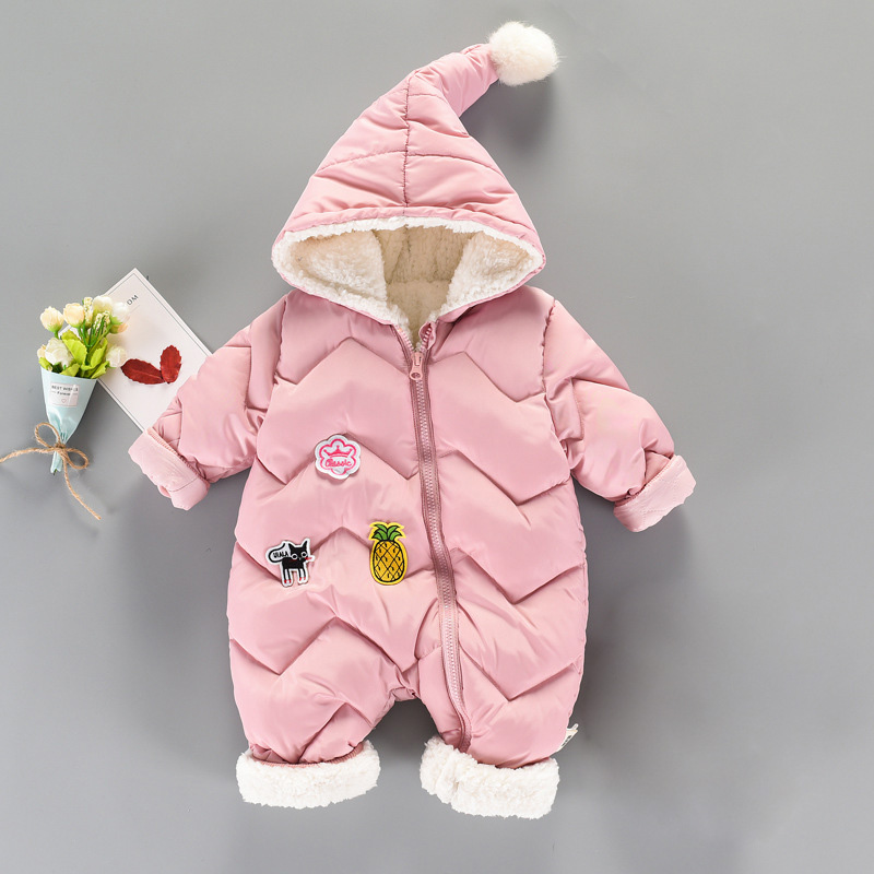 Newborn Baby Clothes Boys Girls Rompers Winter Thicken Zipper Cotton Baby Snowsuit Fleece Warm Toddler Jumpsuits Roupas Bebes baby climb clothing newborn boys girls warm romper spring autumn winter baby cotton knit jumpsuits 0 18m long sleeves rompers