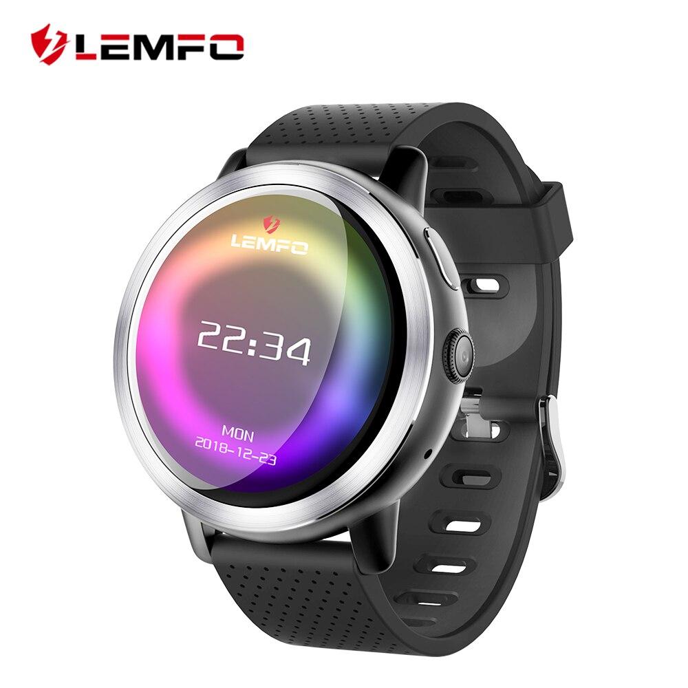 LEMFO LEM8 4G Смарт-часы Android 7.1.1 gps Smartwatch Для мужчин 2 ГБ 16 ГБ 580 мАч Батарея 1,39 дюймов AMOLED Экран спортивные часы