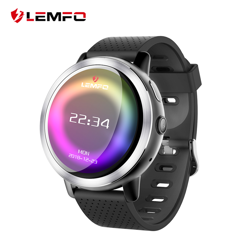 LEMFO LEM8 4g Montre Smart Watch Android 7.1.1 GPS Smartwatch Hommes 2 gb 16 gb 580 mah Batterie 1.39 pouce AMOLED Écran Sport Montre