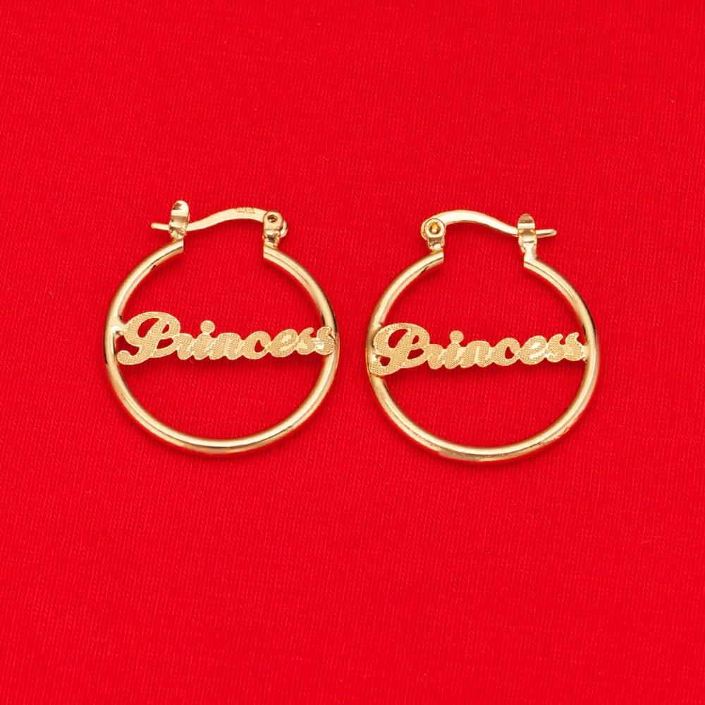 New Girls Cute Hot Princess Love Earrings Brass Women Men Baby Popular Fashion Earrings Jewelry