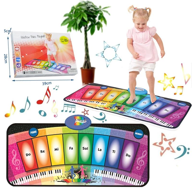 Baby Music Mat Carpet Rainbow Electronic Piano Mat Baby Educational Music Dancing Crawling Toys хорхе болетт jorge bolet liszt piano music 9 cd