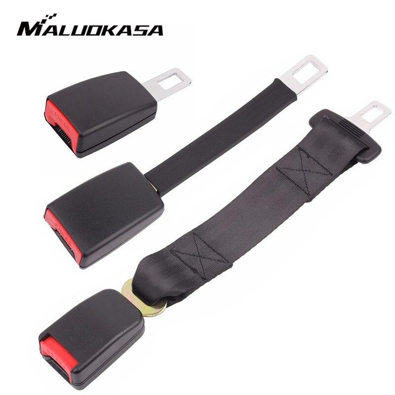 MALUOKASA asiento de coche Universal cinturón E24 cinturón de seguridad de extensión extensor hebilla cinturones y relleno de accesorios de automóviles