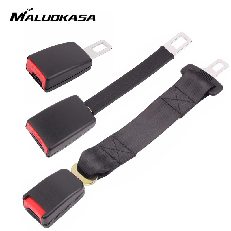 Universal Car Seat Belt Extender Cover 3 Size Safety Belt Extension Plug Buckle Seat Belt Clip Extender Auto Accessories