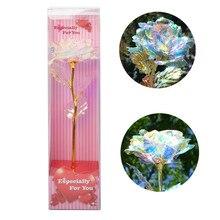 Galaxy Rose Flower подарок на день Святого Валентина влюбленных Романтические цветы с любовной основой домашнее украшение стола подарки для девочек и женщин