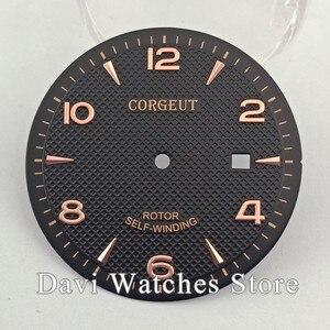 Image 4 - Corgeut/Steril Sıcak satış 35.6mm İzle Dial Fit ETA 2836, Miyota 8215 8205 821A Hareketi