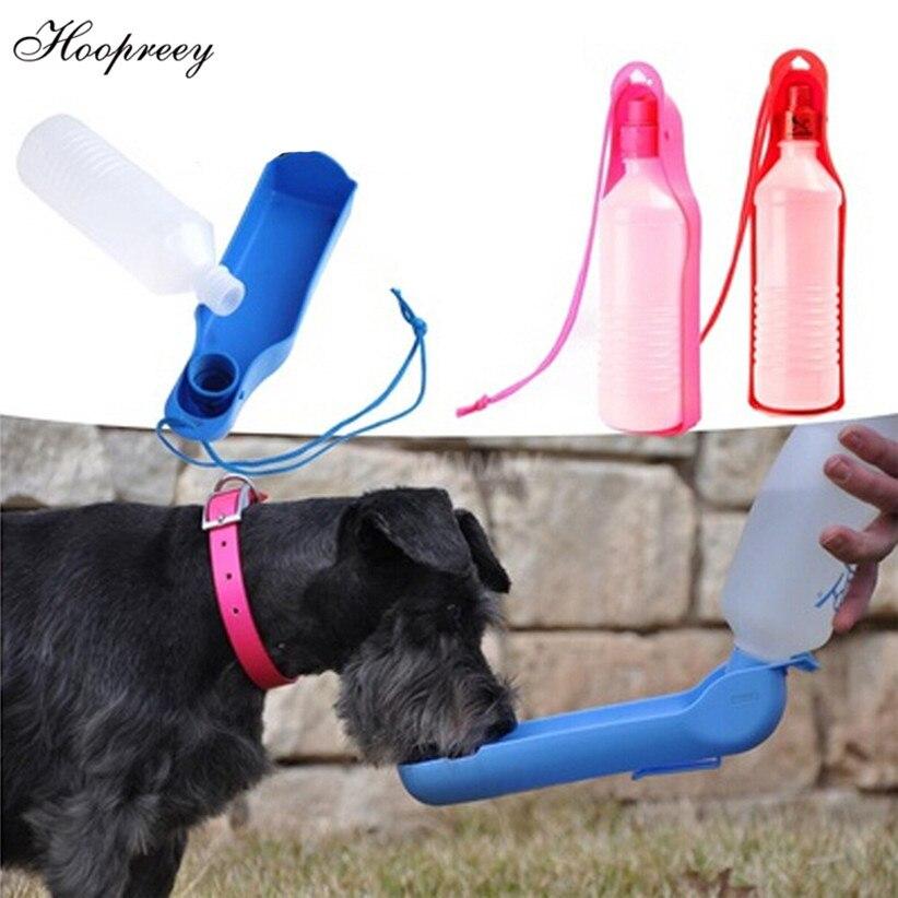 250ml 500ml Pet Water Feeder Dog Bottle Drinking Blue Red: 250ml 500ml Foldable Pet Dog Drinking Water Bottles Travel