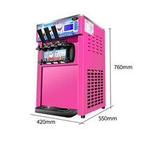 Рабочий стол для производства мягкого мороженого машина сладкое мороженое-рожок машина 18л/ч мороженое производитель 1200 Вт
