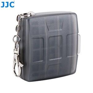 Image 4 - JJC Speicher Karte Fall 4 SD + 4 TF Kamera Mini Compact Tough Halter Wasser Beständig Lagerung Karten Box
