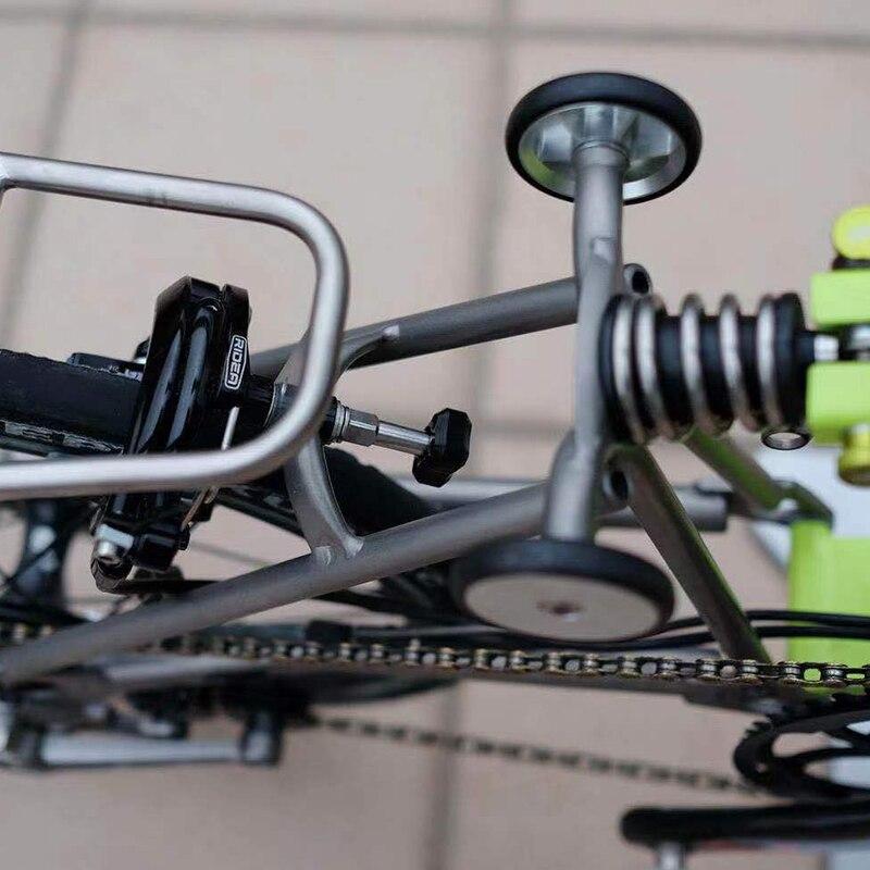 Image 4 - Титановый сплав стопдиск для Brompton складной велосипед панель для парковки сверхлегкий 3 цвета-in Подставка для велосипеда from Спорт и развлечения